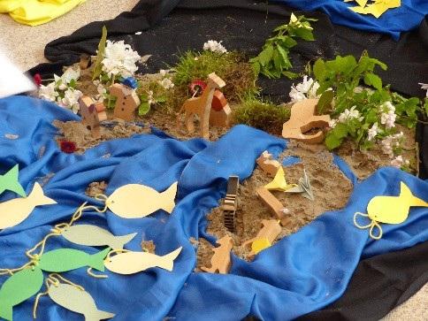 Fische im Sandkasten